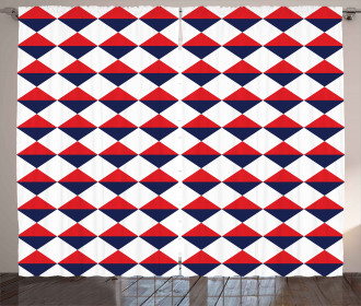 Red Half Triangles Curtain