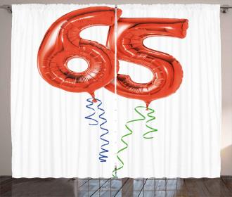 Fun Party Balloons Curtain