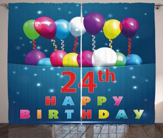 24th Birthday Party Curtain