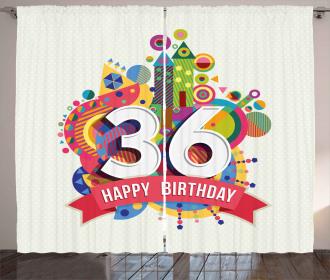 Birthday Party Theme Curtain