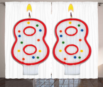 Celebration Candles Curtain