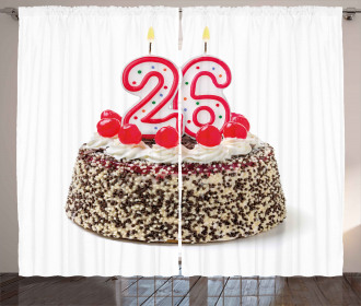 Yummy Cake Candles Curtain