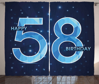Number Night Sky Age Curtain