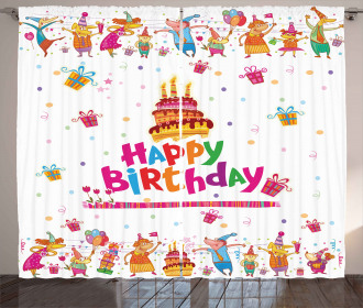 Joyful Mouses Party Mood Curtain
