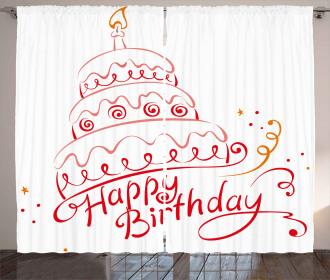 Birthday Cake Spirals Curtain
