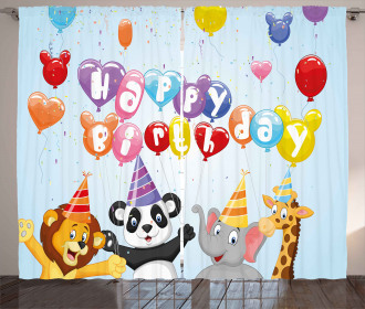 Birthday Safari Curtain