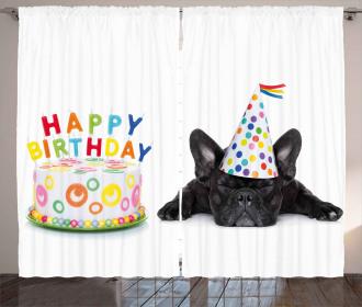 Bulldog Party Cake Curtain