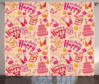 Party Theme Cakes Curtain