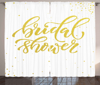 Bride Party Lettering Curtain