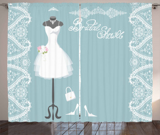 Vintage French Bride Curtain