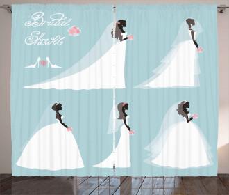 Fashion Bride Dresses Curtain