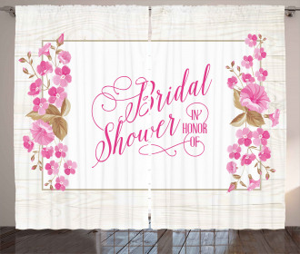 Bride Party Leaves Curtain