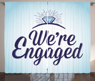 We Are Engaged Curtain