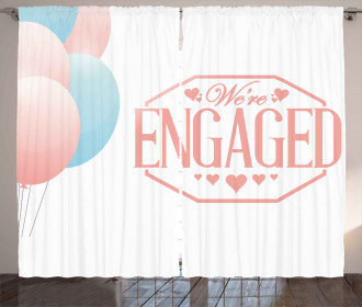 Engagement Text Curtain