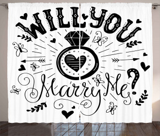 Hearts Marriage Curtain