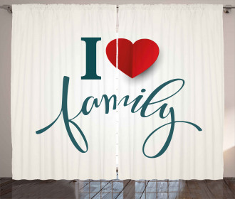 Love and Family Heart Curtain