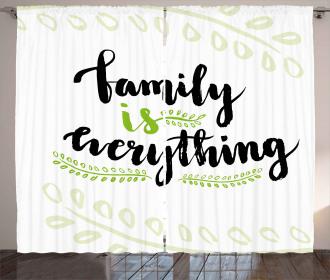 Cute Lettering Phrase Curtain