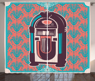 Retro Music Box Party Curtain
