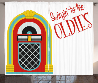 Jazz Age Party Music Curtain