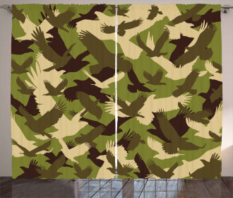 Open Wings Camouflage Curtain