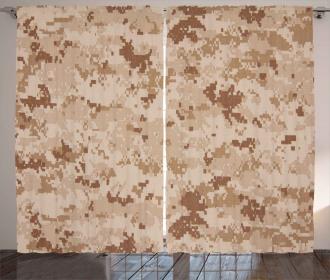 Desert Marpat Camo Motif Curtain