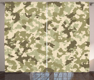 Camouflage Survival Theme Curtain