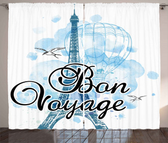 Air Balloon Paris Curtain