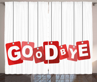 Goodbye on Blocks Curtain
