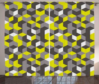 Modern Box Cubes Curtain