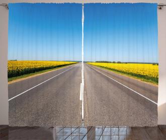 Sunflowers Road Curtain
