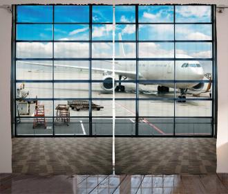 Shangai Airport Plane Curtain