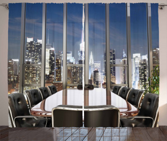 Business Room City Curtain