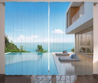 Minimalist Beach House Curtain