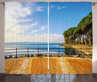 Bolsena Lake Italy View Curtain