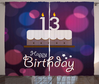 Party Cake Thirteen Curtain