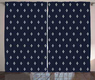 Navy Inspired Pattern Curtain