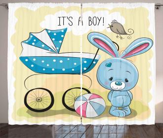 Cute Bunny Baby Curtain