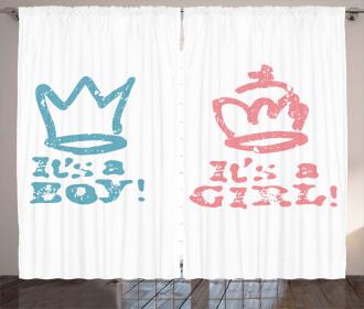 Girl Queen Boy King Curtain