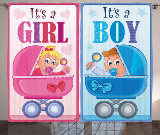Girl and Boy Carriage Curtain