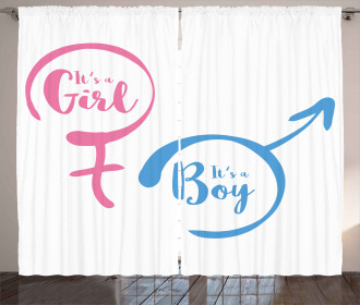 Babies Text Signs Curtain
