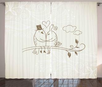 Two Birds Love Curtain
