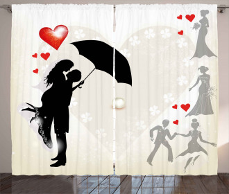 Couple Love Romance Curtain