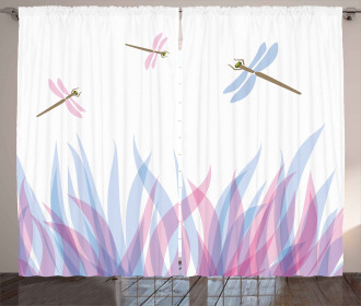 Dragoflies on Flame Curtain