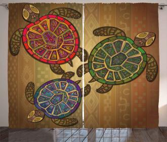 Three Turtles Ornamental Curtain