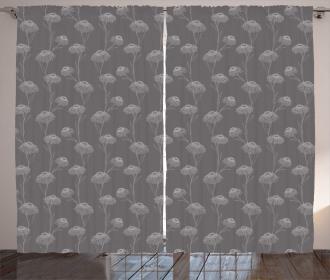 Chrysanthemum Flowers Curtain