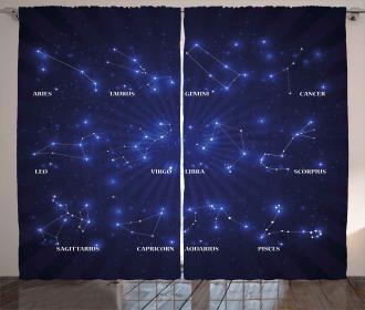 Astrology Stars Curtain
