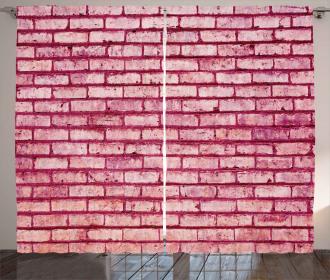 Old Brick Wall Facade Curtain