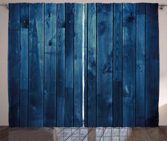 Wooden Planks Texture Curtain