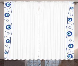 Border Design Spirals Curtain
