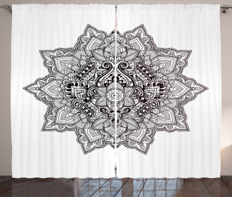 Bohemian Magic Zen Symbol Curtain